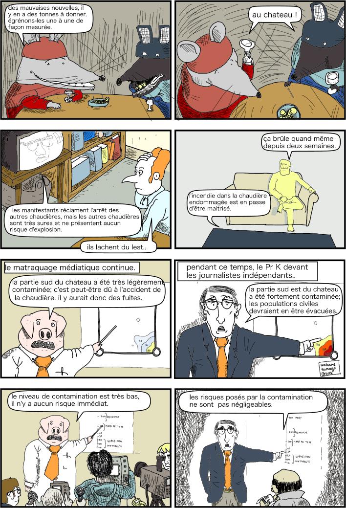 médias. comment gérer une catastrophe nucléaire