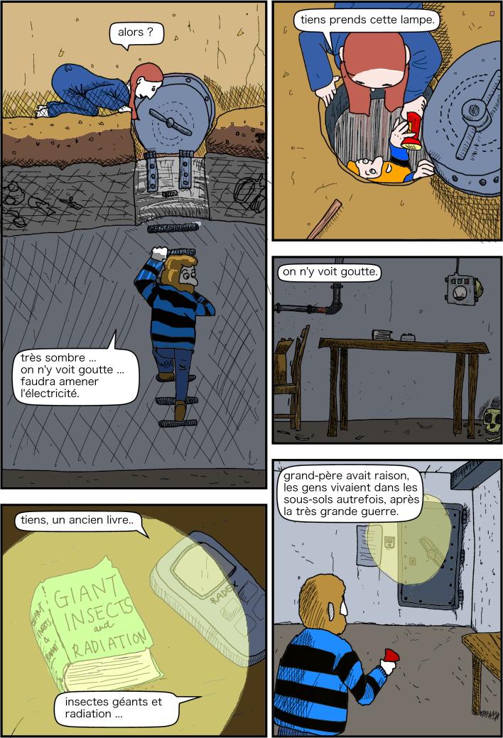 exploration souterraine. qu'il y a t il sous la cave ?
