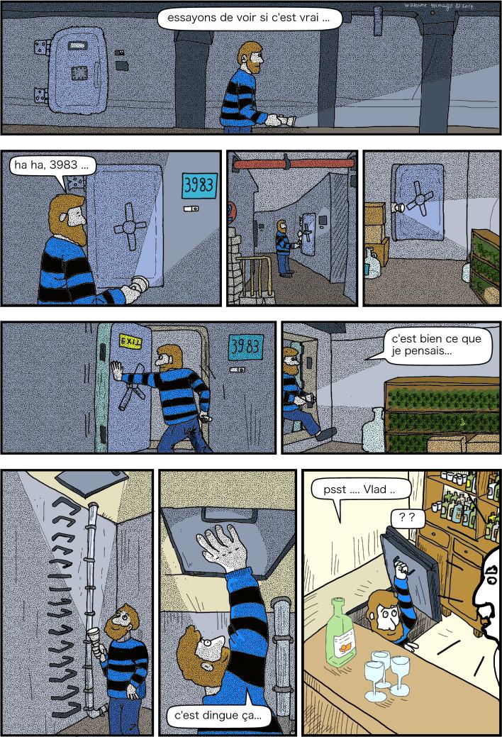 Matthieu s'aventure dans les souterrains