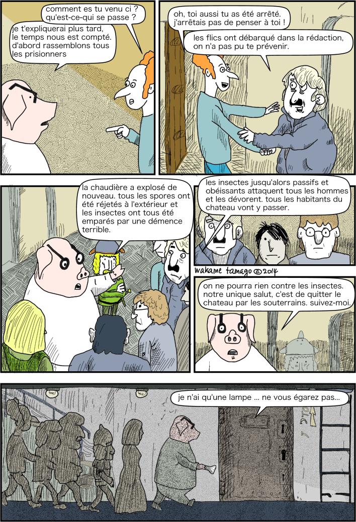cochon organise la fuite des prisonniers politiques.